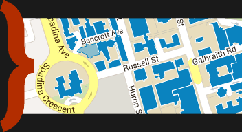 Click here to map our location on the U of T map